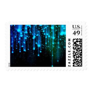 Nights Of Rain and Stars Meteor Shower Blue Stamp