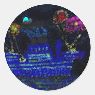 Nightscape Classic Round Sticker