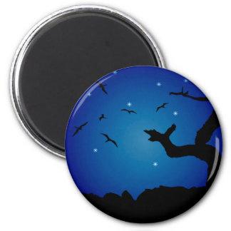 Nightscape Landscape Illustration Magnet