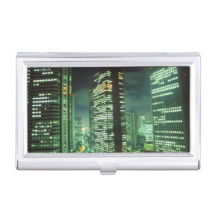 Tokyo business card holders cases zazzle nightscape shinjuku tokyo japan business card case colourmoves