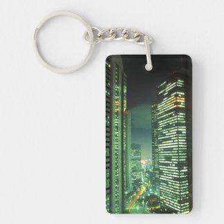 Nightscape, Shinjuku, Tokyo, Japan Keychain