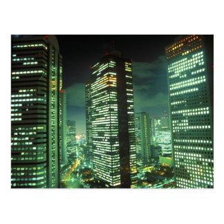 Nightscape, Shinjuku, Tokyo, Japan Post Card