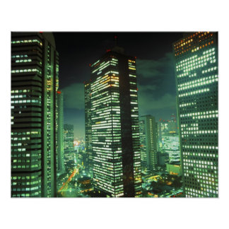 Nightscape, Shinjuku, Tokyo, Japan Poster