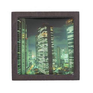 Nightscape, Shinjuku, Tokyo, Japan Premium Keepsake Boxes