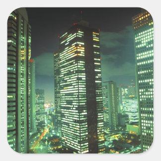 Nightscape, Shinjuku, Tokyo, Japan Square Sticker