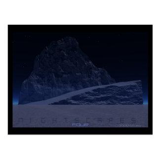 Nightscapes Four - Glacier Postcard