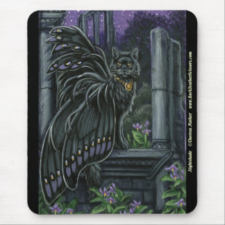 Nightshade Black Fairy Cat Mousepad