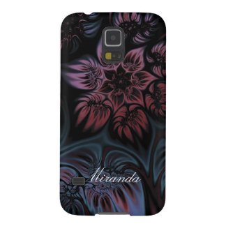 NIghtshade Fractal Flower Galaxy S5 Case
