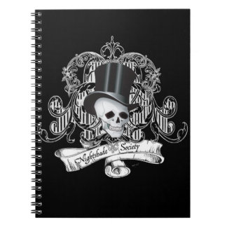 Nightshade Society (Dark colors) Spiral Notebooks