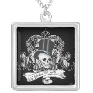 Nightshade Society (Dark colors) Square Pendant Necklace