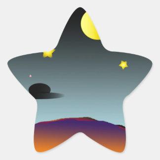 Nightsky Pegatina En Forma De Estrella