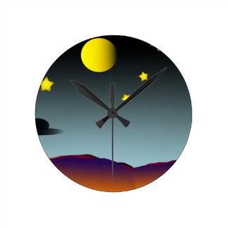 Nightsky Round Clock