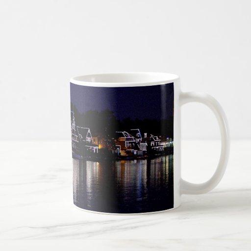 Nighttime at Boat House Row Classic White Coffee Mug