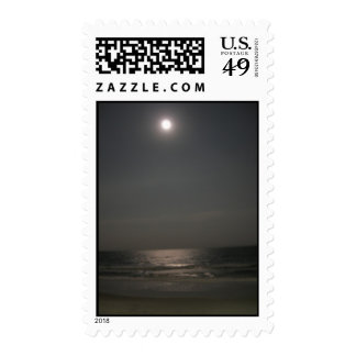 Nighttime at the Beach Postage