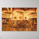 Nighttime Carousel Poster