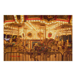 Nighttime Carousel Posters