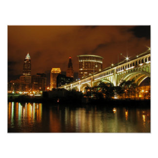 Nighttime Cleveland Posters