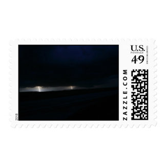 Nighttime Double Lightning Stamps