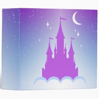 Nighttime Dreamy Castle In The Clouds Starry Sky Binder