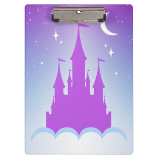 Nighttime Dreamy Castle In The Clouds Starry Sky Clipboard