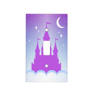 Nighttime Dreamy Castle In The Clouds Starry Sky Light Switch Cover