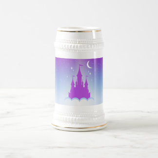 Nighttime Dreamy Castle In The Clouds Starry Sky 18 Oz Beer Stein