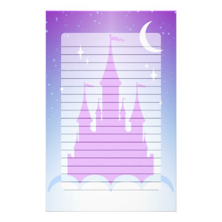 Nighttime Dreamy Castle In The Clouds Starry Sky Stationery