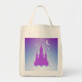 Nighttime Dreamy Castle In The Clouds Starry Sky Tote Bag