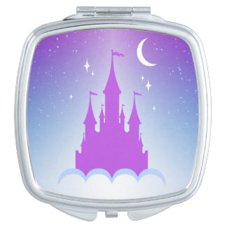 Nighttime Dreamy Castle In The Clouds Starry Sky Vanity Mirror