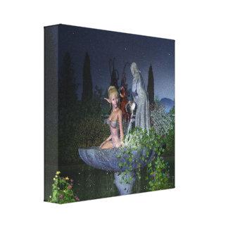 Nighttime Garden Fairy Canvas Print