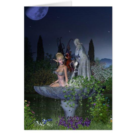 Nighttime Garden Fairy Card