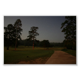 Nighttime Golf Course Poster