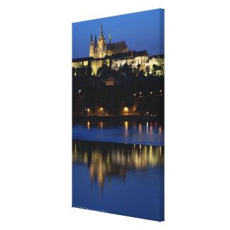 Nighttime in Prague, Czech Republic Canvas Prints