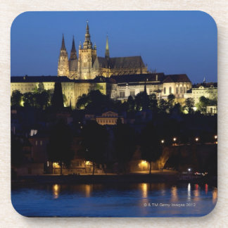 Nighttime in Prague, Czech Republic Coaster