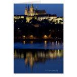 Nighttime in Prague, Czech Republic Greeting Card