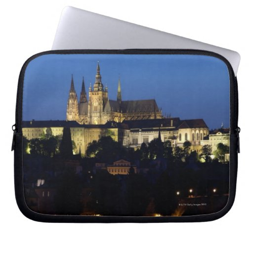 Nighttime in Prague, Czech Republic Laptop Sleeve
