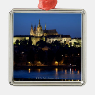 Nighttime in Prague, Czech Republic Metal Ornament