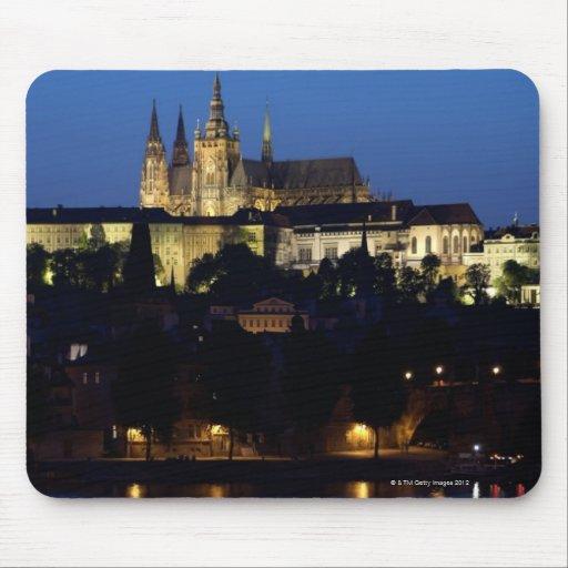 Nighttime in Prague, Czech Republic Mouse Pads