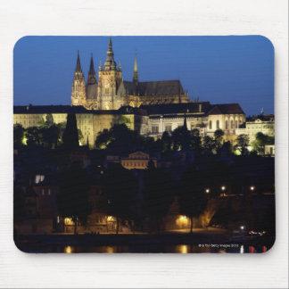 Nighttime in Prague Czech Republic Mouse Pads