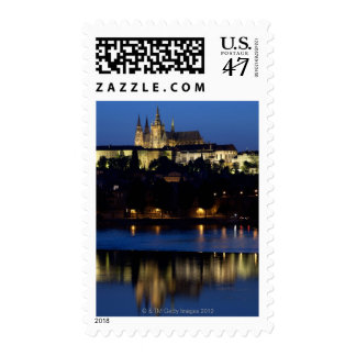 Nighttime in Prague, Czech Republic Postage
