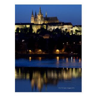 Nighttime in Prague, Czech Republic Postcard