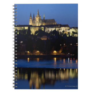 Nighttime in Prague, Czech Republic Spiral Notebook
