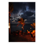 Nighttime on a Tropical Island Poster