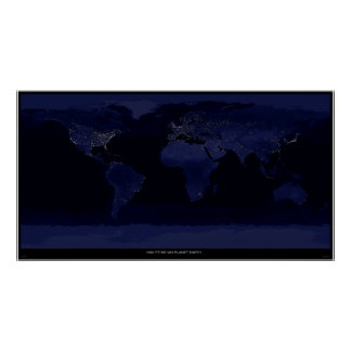Nighttime on Planet Earth Poster
