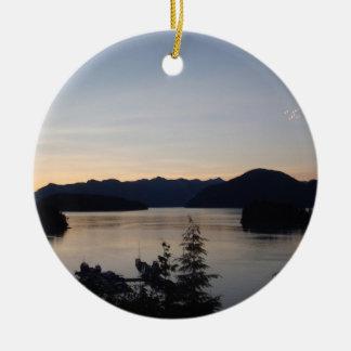 Nighttime on the Inland Passageway Ceramic Ornament