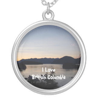 Nighttime on the Inland Passageway Round Pendant Necklace