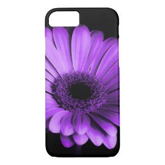 Nighttime purple Gerbera Daisy iPhone case