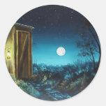Nighttime Retreat Round Sticker