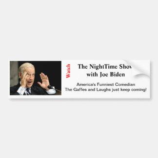 NightTime with Joe Biden Bumper Sticker