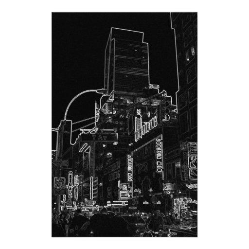 NightWalk New York City Times Square CricketDiane Stationery